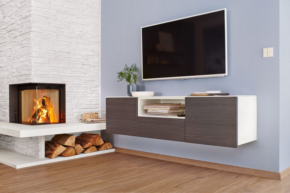 Customise wall-mounted sideboards